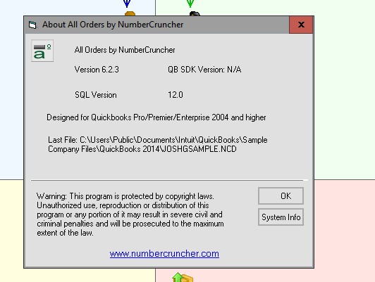 NumberCruncher   QuickBooks Inventory and Order Management